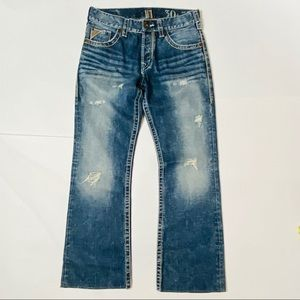 Silver Jeans Nash Bootcut blue distressed 30 X 29